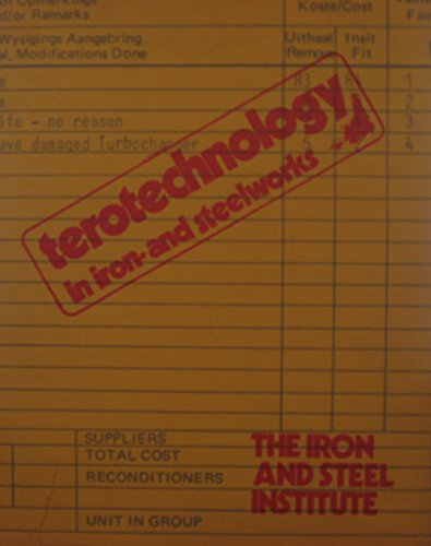9780115114168: Terotechnology handbook