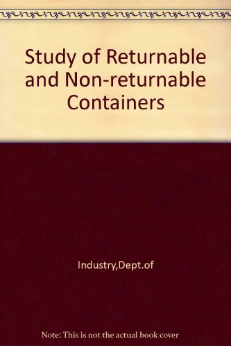 9780115129391: Study of Returnable and Non-returnable Containers