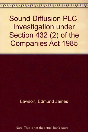 9780115152849: Sound Diffusion PLC: Investigation under Section 432 (2) of the Companies Act 1985