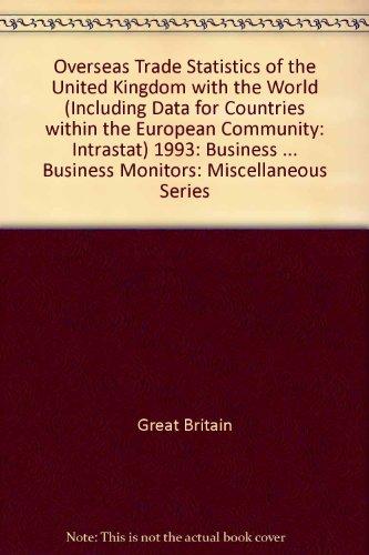 Overseas Trade Statistics of the United Kingdom: Great Britain