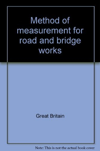 9780115502095: Method of measurement for road and bridge works