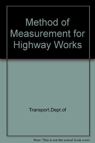 9780115508080: Method of Measurement for Highway Works