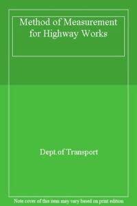9780115508080: Method of Measurement for Highway Works