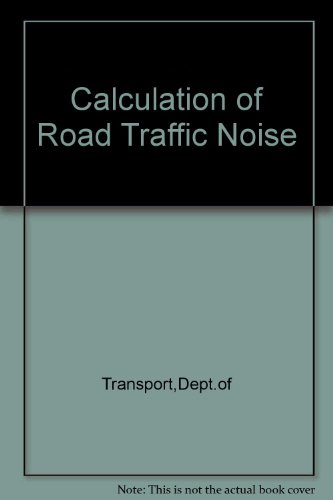 9780115508479: Calculation of Road Traffic Noise