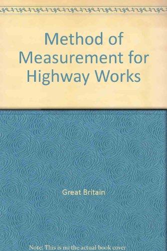 9780115510823: Method of Measurement for Highway Works