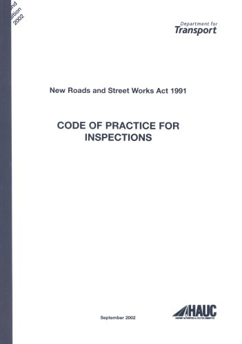 9780115525414: New Roads and Street Works Act 1991: A Code of Practice for Inspections