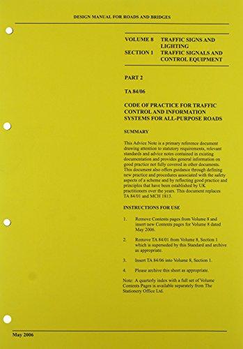 Design manual for roads and bridges: Vol.: Highways Agency