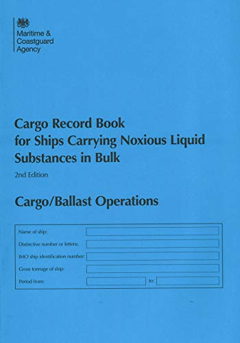 9780115528194: Cargo record book for ships carrying noxious liquid substances in bulk: Cargo/Ballast Operations