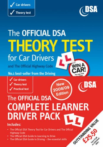 9780115529337: The Official DSA Complete Learner Driver Pack: 2008/09 Edition: Valid for Tests Taken from 1 September 2008