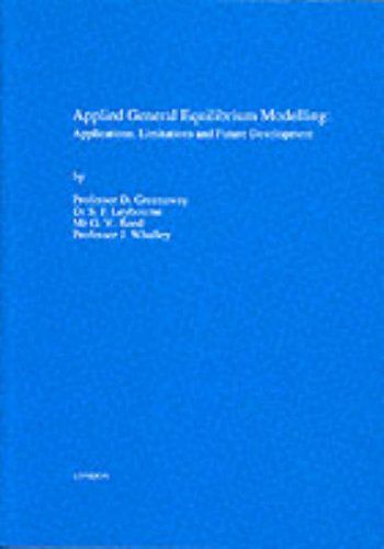 9780115600494: Applied General Equilibrium Modelling: Applications, Limitations and Future Development