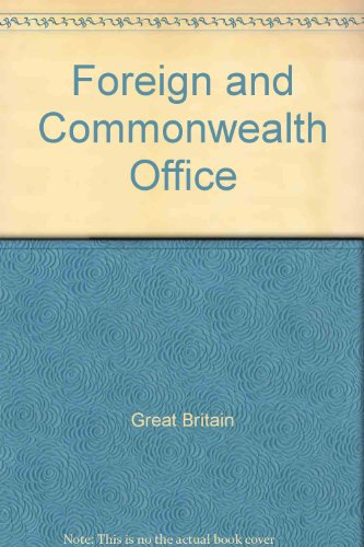9780115802614: Foreign and Commonwealth Office