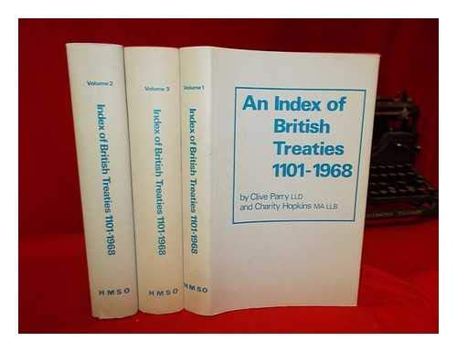 9780115901010: Index of British Treaties, 1101-1968