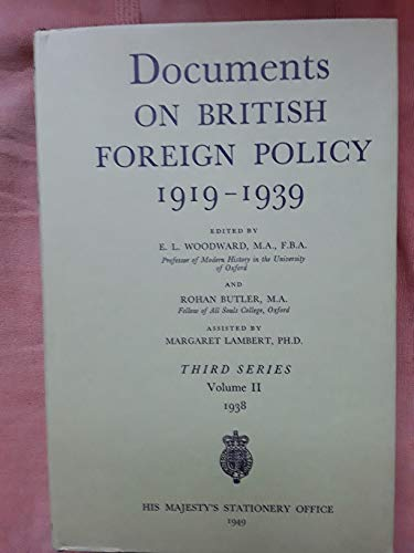 9780115915277: Documents on British Foreign Policy, 1919-39: European Affairs, July-Sept., 1938 3rd Series, v. 2