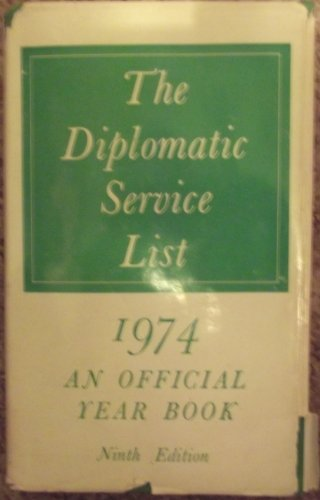 9780115916304: Diplomatic Service List 1974