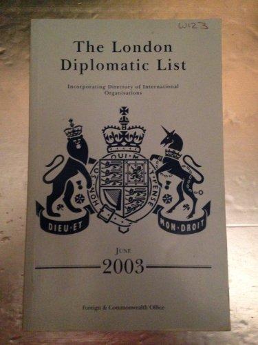 9780115917776: The London Diplomatic List: June 2003 (London Diplomatic List)