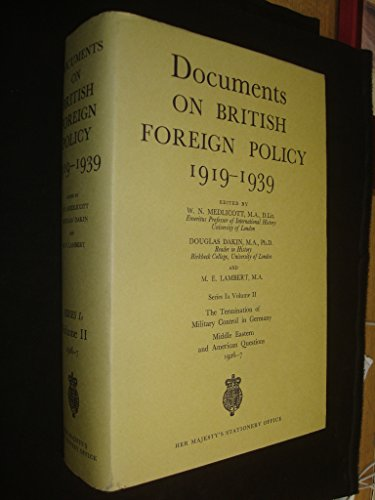 9780115917912: Documents On British Foreign Policy Volume 2