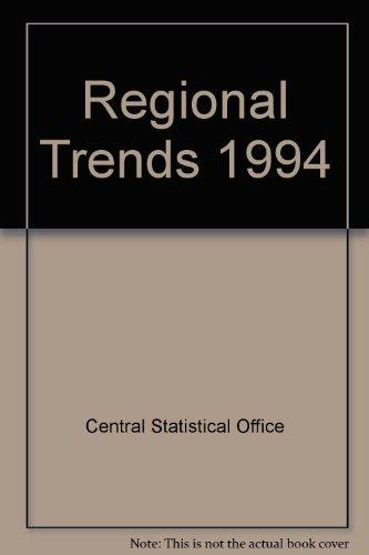 9780116206497: Regional Trends 1994
