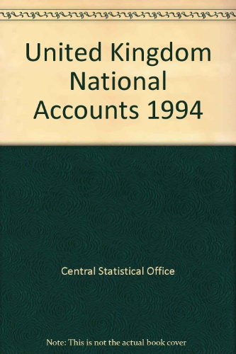 9780116206527: United Kingdom National Accounts: The Blue Book 1994