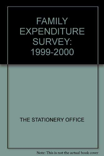 9780116213693: Family Spending Formerly: Family Expenditure Survey 1999-2000