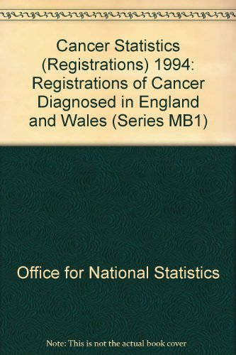 9780116213945: Cancer Statistics (Registrations) 1994: Registrations of Cancer Diagnosed in England and Wales (Series MB1)