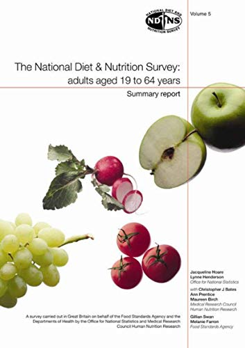 9780116215703: The National Diet and Nutrition Survey: Adults Aged 19 to 64 Years