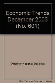 9780116215901: Economic Trends No.601 December 2003