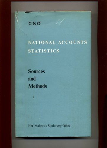 9780116300614: National accounts statistics: Sources and methods,
