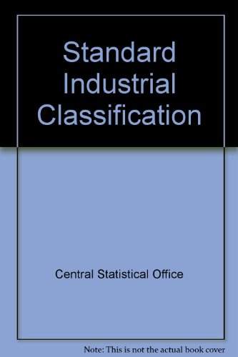 9780116300638: Standard Industrial Classification