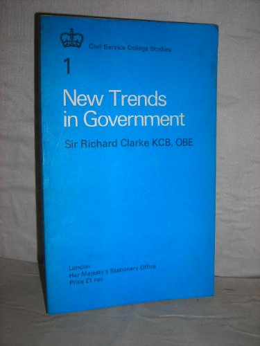 9780116302649: New Trends in Government: Lectures (Civil Service College Studies)