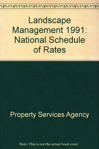 9780116715494: Landscape Management 1991: National Schedule of Rates