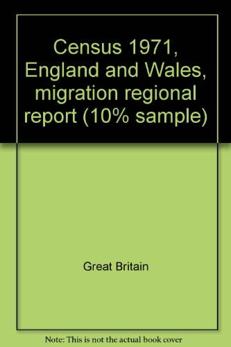 9780116905123: Census 1971, England and Wales, migration regional report (10% sample)