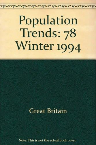 9780116915832: Population Trends: 78 Winter 1994