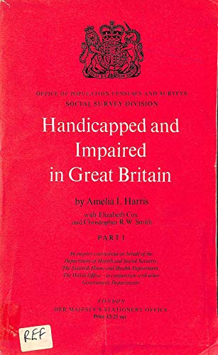 Handicapped and Impaired in Great Britain: Pt.: Population Censuses &