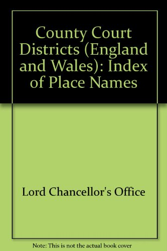 9780117003613: County Court Districts (England and Wales): Index of Place Names