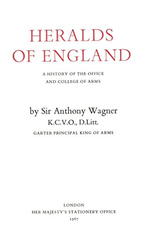 9780117004542: Heralds of England: A History of the Office and College of Arms
