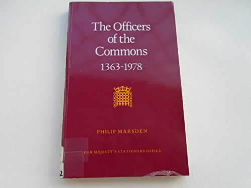 9780117005754: Officers of the Commons, 1363-1978