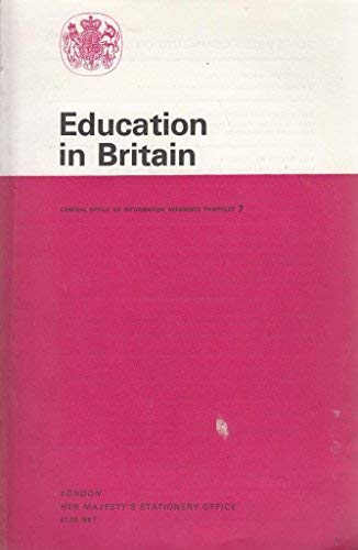 9780117006737: Education in Britain (Reference Pamphlet)