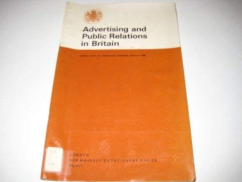 9780117008038: Advertising and Public Relations in Britain (Reference Pamphlet)
