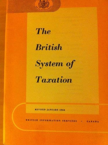 9780117009172: British System of Taxation (Reference Pamphlet)