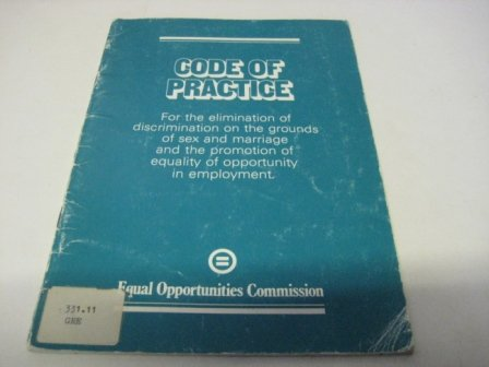 9780117012790: Equal Opportunity Policies, Procedures and Practices in Employment: Code of Practice