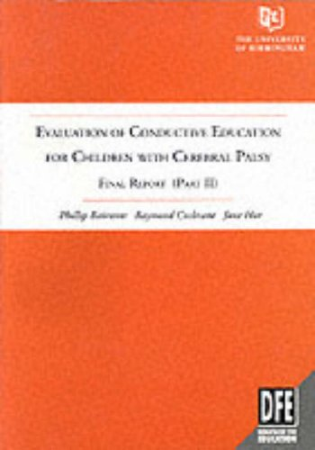 9780117017160: Evaluation of Conductive Education for Children with Cerebral Palsy: Pt. 2: Final Report