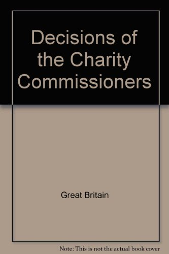 9780117018839: Decisions of the Charity Commissioners