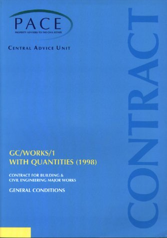 9780117021846: GC Works 1: General Conditions with Bills of Quantities, 1998 - Contract for Building and Civil Engineering Major Works Pt. 1