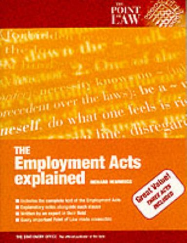 9780117023468: Employment Acts Explained (Point of Law)