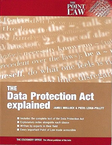 9780117024922: The 1998 Data Protection Act Explained (Point of Law)