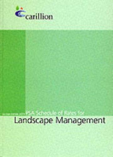 9780117025158: PSA Schedule of Rates for Landscape Management