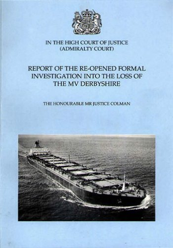 9780117025301: Report of the Re-opened Formal Investigation into the Loss of the MV