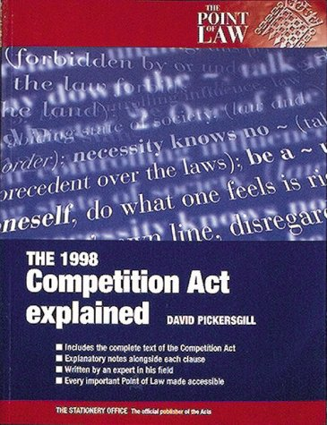 9780117026834: The Competition Act, 1998 Explained (Point of Law)