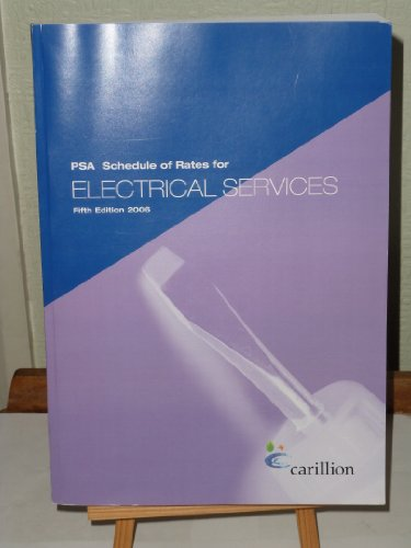 9780117027725: PSA Schedule of Rates for Electrical Services 2006