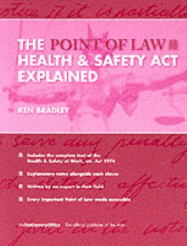 9780117028104: The Health and Safety at Work Etc. Act 1974 Explained (Point of Law)